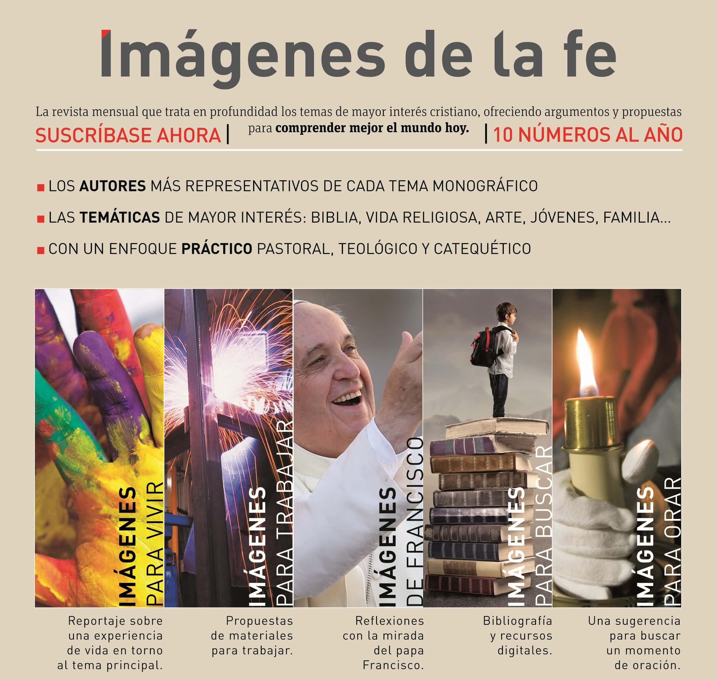 Composición de la revista Imágenes de la fe