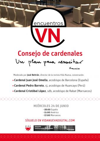 Cartel publicidad encuentro vida nueva sabadell 24 de junio 2020